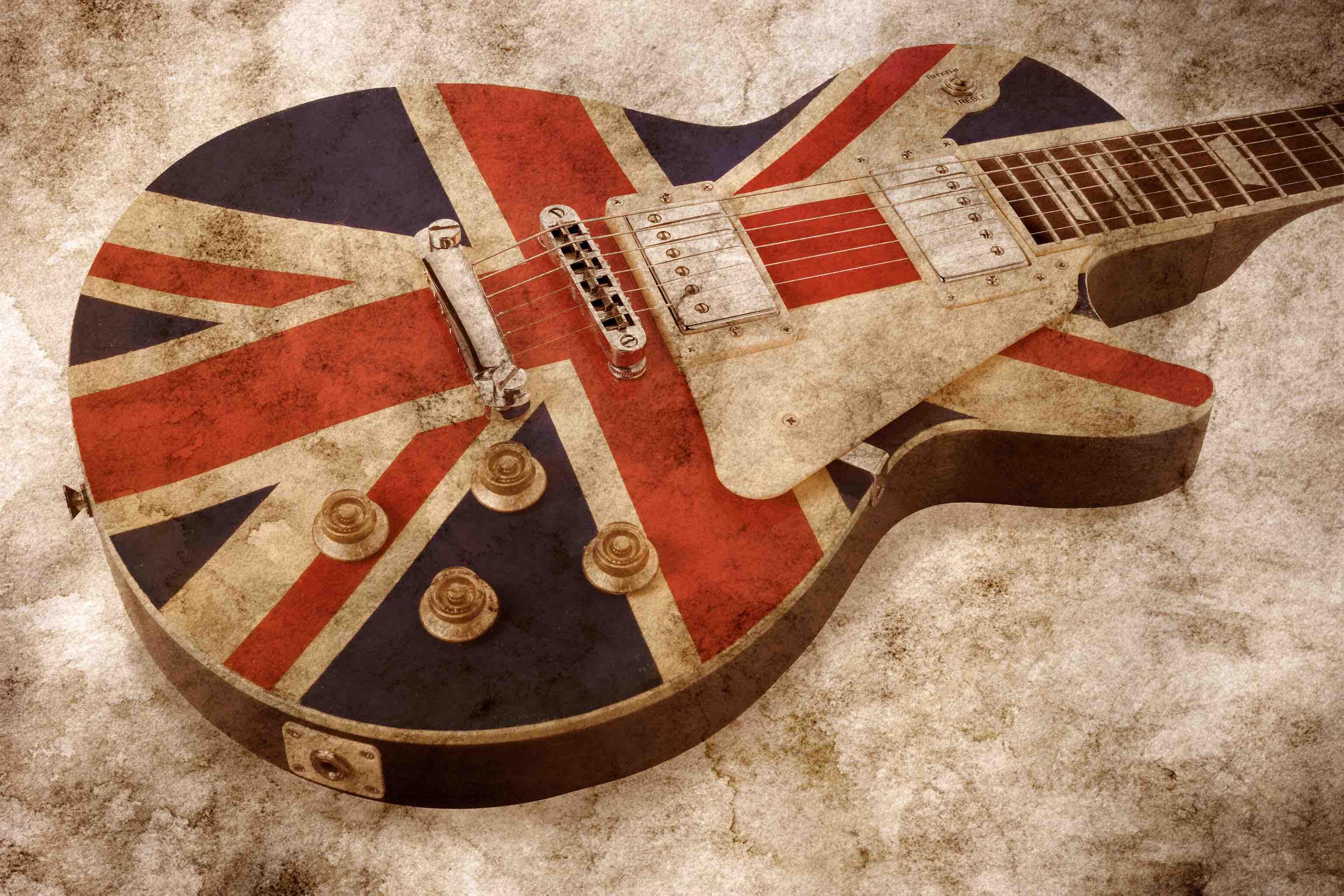 grunge style brit pop guitar